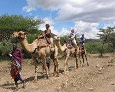 One day camel riding safari with Maasai